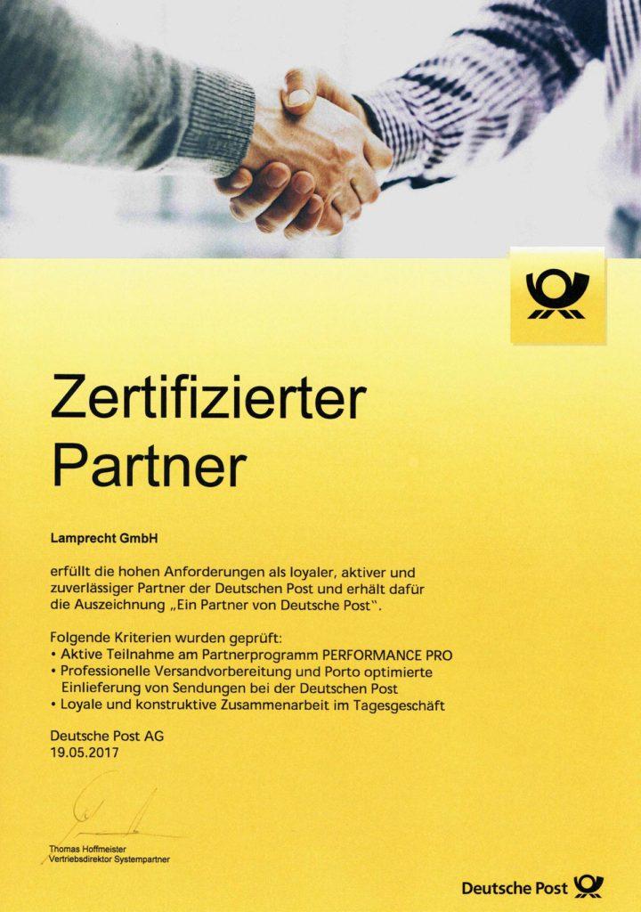 zertifizierter Partner Deutsche Post Münsterland